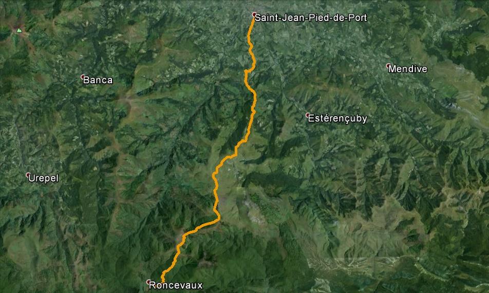 Jeudi 28 aout 47 me tape st jean pied de port roncevalles 24 km de serraval santiago - St jean pied de port to roncesvalles ...